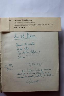 Cicerone Theodorescu - Un cantec din ulita noastra (cu autograf, editie hardcover)
