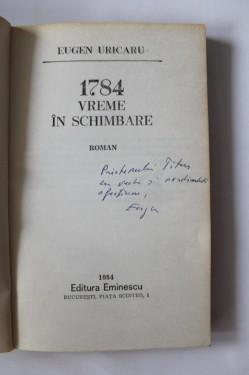 Eugen Uricaru - 1784. Vreme in schimbare (cu autograf)