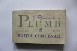 G. Bacovia - Plumb (editia centenar)