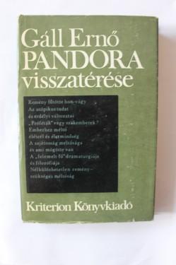 Gall Erno - Pandora visszaterese (editie hardcover)