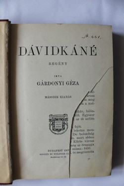 Gardonyi Geza - Az a hatalmas harmadik. Az oreg tekintetes. Davidkane (3 vol., editie hardcover, antebelica)