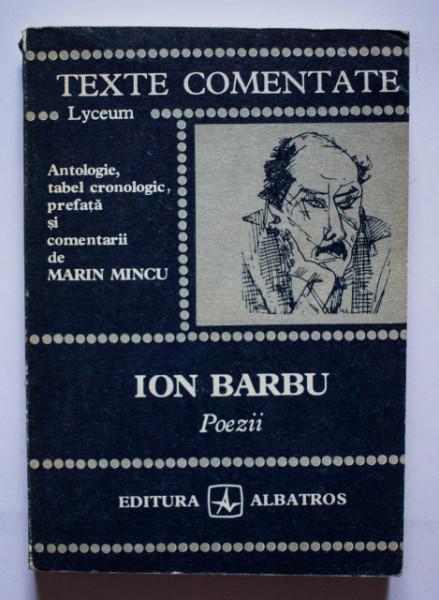 Marin Mincu - Ion Barbu. Poezii (texte comentate)