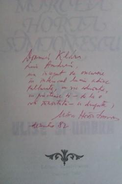 Mircea Horia Simionescu - Ulise si umbra (cu autograf)