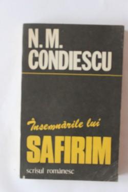N. M. Condiescu - Insemnarile lui Safirim