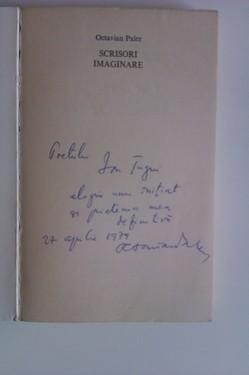 Octavian Paler - Scrisori imaginare (cu autograf)