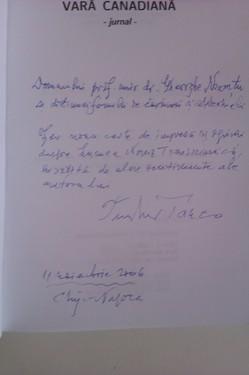 Teodor Tanco - Vara canadiana (cu autograf)