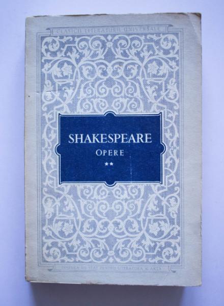 William Shakespeare - Opere II (Richard II. Negutatorul din Venetia. Iuliu Cezar)