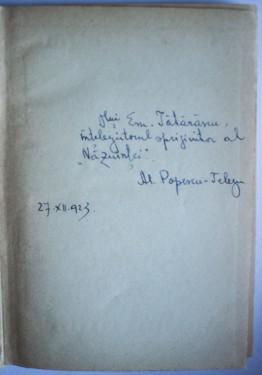 Al. Popescu-Telega - Prosatorii spanioli contemporani (cu autograf, editie hardcover)