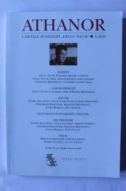 """Athanor. Caietele Fundatiei """"Gellu Naum"""" - volumul 3 / 2013"""