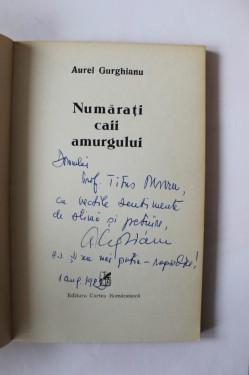 Aurel Gurghianu - Numarati caii amurgului (cu autograf)