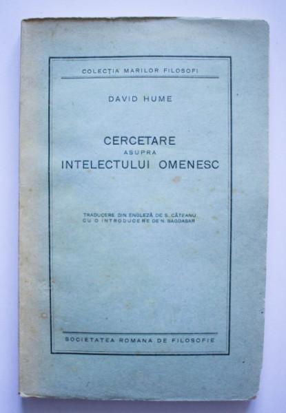 David Hume - Cercetare asupra intelectului omenesc