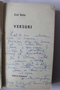 Emil Botta - Versuri (cu autograf)