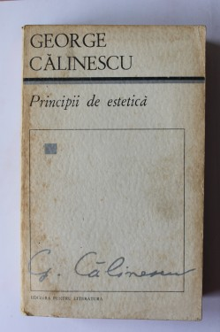 G. Calinescu - Principii de estetica