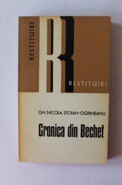 Gheorghe Nicola Stoian-Ogrineanu - Cronica din Bechet