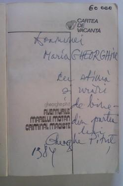 Gheorghe Pitut - Aventurile marelui motan criminal Maciste (cu autograf)