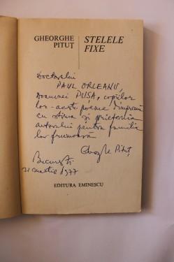 Gheorghe Pitut - Stelele fixe (cu autograf)