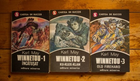 Karl May - Winnetou 1-3 (Winnetou incatusat. Ku-Klux-Klan. Old Firehand) (3 vol.)