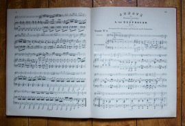 L. van Beethoven - Sonaten fur Pianoforte und Violine (editie hardcover, in limba germana)