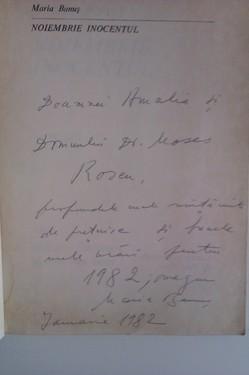Maria Banus - Octombrie inocentul (cu autograf)