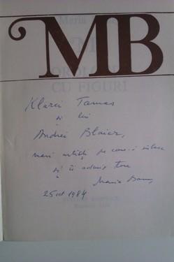 Maria Banus - Orologiu cu figuri (cu autograf)