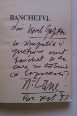 Radu Carneci - Banchetul (cu autograf)