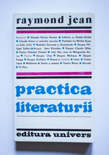 Raymond Jean - Practica literaturii