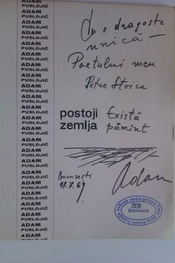 Adam Puslojic - Postoji zemlja (editie in limba sarba, cu autograf)