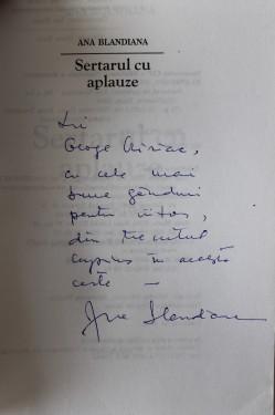 Ana Blandiana - Sertarul cu aplauze (cu autograf)