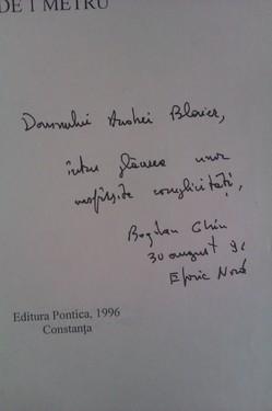 Bogdan Ghiu - Poemul cu latura de un metru (cu autograf)