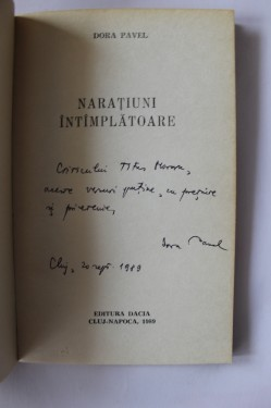 Dora Pavel - Naratiuni intamplatoare (debut, cu autograf)