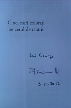 Florina Ilis - Cinci nori colorati pe cerul de rasarit (cu autograf)