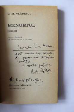 G. M. Vladescu - Menuetul (cu autograf)
