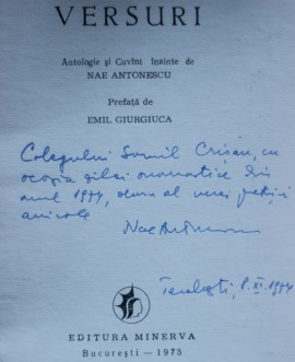 George Boldea - Versuri (cu autograful lui Nae Antonescu, ingrijitorul editiei)