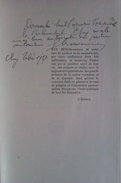 Georges Moroianu - Les luttes des Roumains Transylvains pour la liberte et l`opinion europeene (editie in limba franceza, cu autograf)