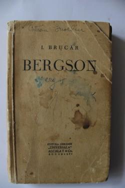I. Brucar - Bergson (cu autograf)