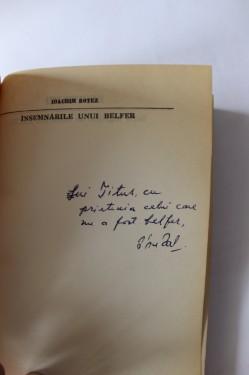 Ioachim Botez - Insemnarile unui belfer (cu autograful lui Petru Poanta)