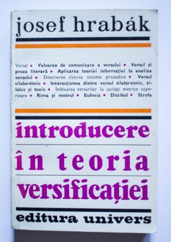 Josef Hrabak - Introducere in teoria versificatiei