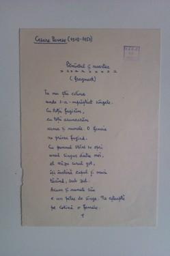 Lot Ion Caraion - 7 poezii in manuscris (traduceri) si o scrisoare catre Petre Stoica