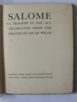 Poze Oscar Wilde - Salome. A Tragedy in One Act (editie hardcover / hardcover edition)