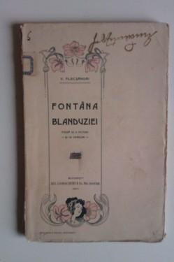 Vasile Alecsandri - Fontana Blanduziei (piesa in 3 acturi si in versuri) (editie antebelica)