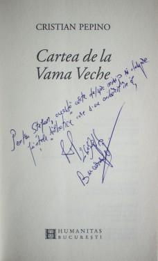 Cristian Pepino - Cartea de la Vama Veche (cu autograf)