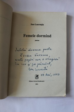 Dan Laurentiu - Femeie dormind (cu autograf)