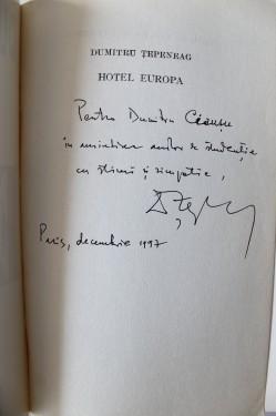 Dumitru Tepeneag - Hotel Europa (cu autograf)