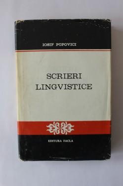 Iosif Popovici - Scrieri lingvistice (editie hardcover)