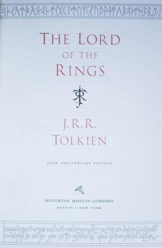 Poze J.R.R. Tolkien - The Lord of The Rings (50th Anniversary Edition) (editie hardcover, bibliofila, in limba engleza, in caseta speciala)