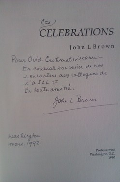 John L. Brown - Celebrations (cu autograf)