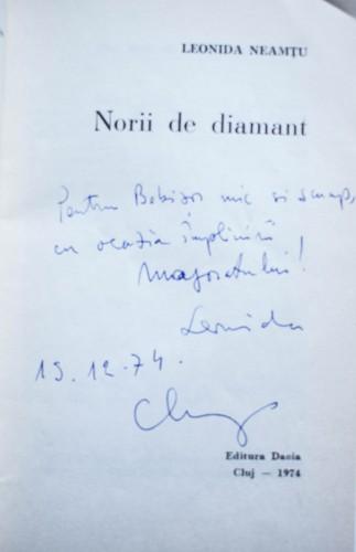Leonida Neamtu - Norii de diamant (cu autograf)