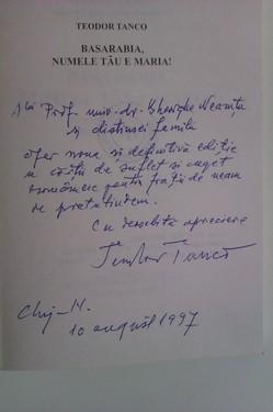 Teodor Tanco - Basarabia numele tau e Maria (cu autograf)