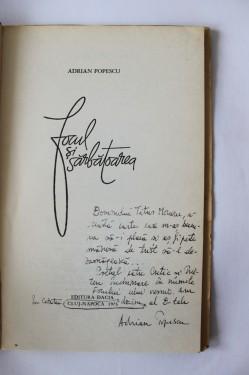 Adrian Popescu - Focul si sarbatoarea (cu autograf)