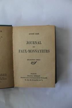 Andre Gide - Journal des faux-monnayeurs (editie hardcover, interbelica, frumos relegata)